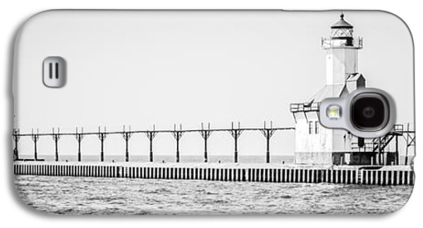 Lake House Galaxy S4 Cases - Saint Joseph Michigan Lighthouse Panoramic Photo Galaxy S4 Case by Paul Velgos