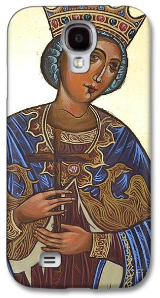 Greek Icon Paintings Galaxy S4 Cases - Saint Kateryna Icon Galaxy S4 Case by Kateryna Kurylo