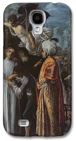 Mercy Galaxy S4 Cases - Saint Lawrence Prepared For Martyrdom, C. 1600-1 Oil On Copper Galaxy S4 Case by Adam Elsheimer