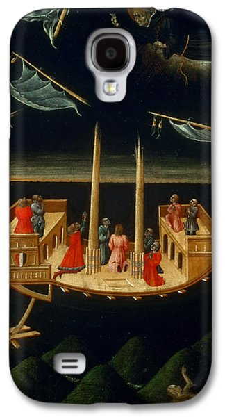 Saving Paintings Galaxy S4 Cases - Saint Nicholas of Tolentino Saving a Ship Galaxy S4 Case by Giovanni di Paolo