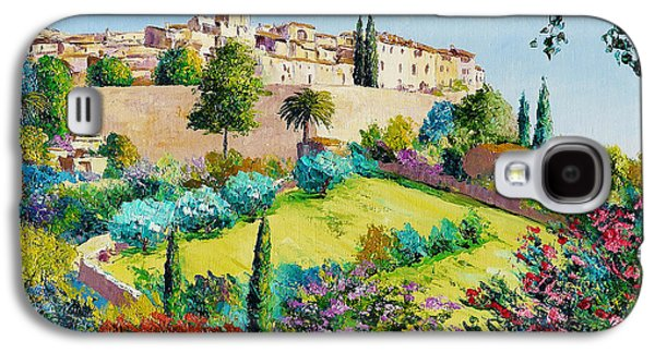 Old Town Digital Art Galaxy S4 Cases - Saint Paul de Vence Galaxy S4 Case by Jean-Marc Janiaczyk