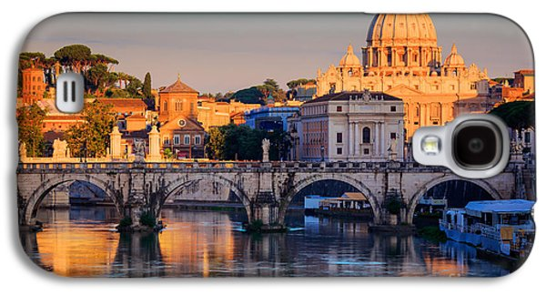 Rome Galaxy S4 Cases - Saint Peters Basilica Galaxy S4 Case by Inge Johnsson