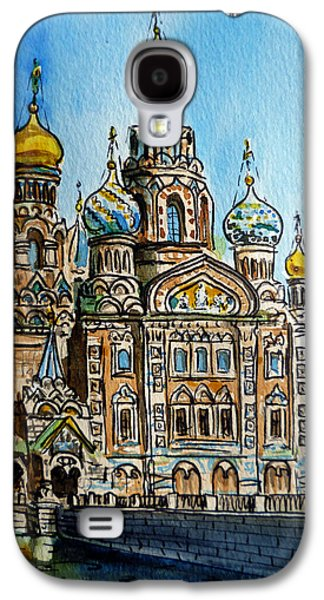 Historical Paintings Galaxy S4 Cases - Saint Petersburg Russia The Church of Our Savior on the Spilled Blood Galaxy S4 Case by Irina Sztukowski
