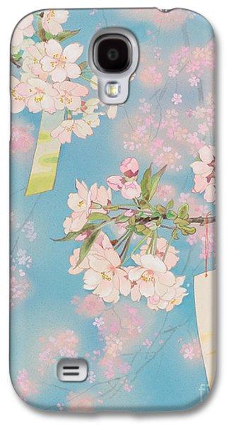 Sakura Paintings Galaxy S4 Cases - Sakura Galaxy S4 Case by Haruyo Morita