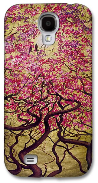 Abstract Digital Paintings Galaxy S4 Cases - Sakura Galaxy S4 Case by Vrindavan Das