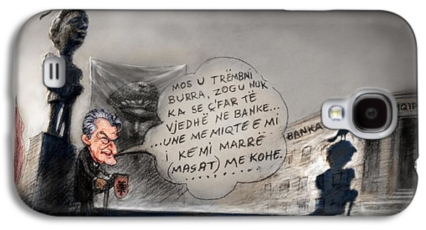 Caricatures Galaxy S4 Cases - Sali Berisha per Ahmet Zogun Galaxy S4 Case by Ylli Haruni