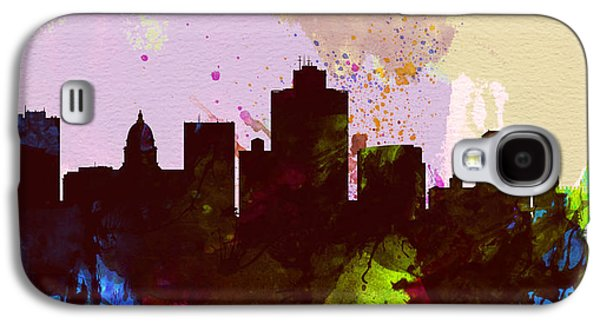 Architectural Paintings Galaxy S4 Cases - Salt Lake City Skyline Galaxy S4 Case by Naxart Studio