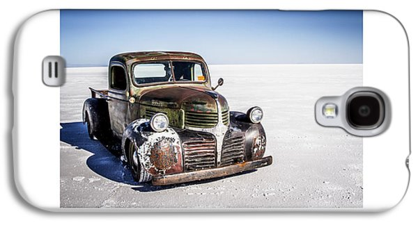 Antique Automobiles Galaxy S4 Cases - Salt Metal Pick Up Truck Galaxy S4 Case by Holly Martin