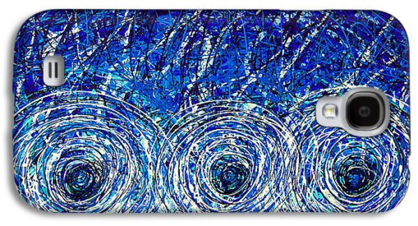 Drips Paintings Galaxy S4 Cases - Salt of the Soul - Drip Painting Art By Commission Galaxy S4 Case by Sharon Cummings