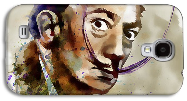 Painter Mixed Media Galaxy S4 Cases - Salvador Dali watercolor Galaxy S4 Case by Marian Voicu