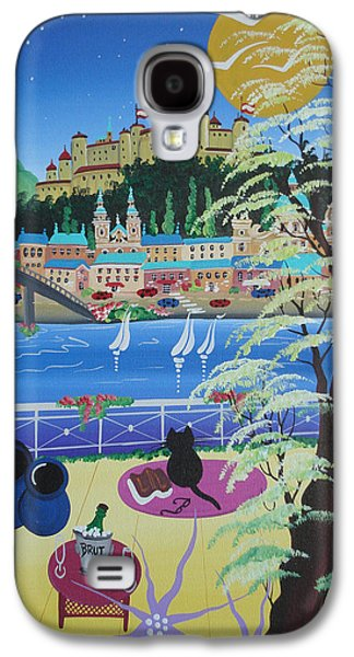Salzburg Galaxy S4 Cases - Salzburg, Austria, 2012 Acrylic On Canvas Galaxy S4 Case by Herbert Hofer