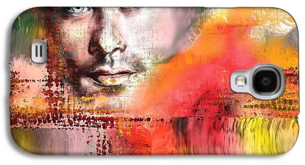 Abstract Digital Paintings Galaxy S4 Cases - Sam H Galaxy S4 Case by Francoise Dugourd-Caput