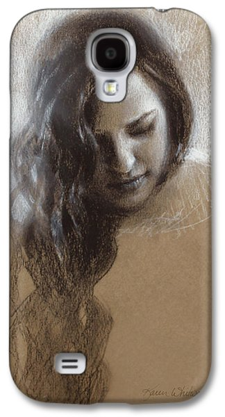Contemplative Drawings Galaxy S4 Cases - Samantha Sketch Galaxy S4 Case by Karen Whitworth