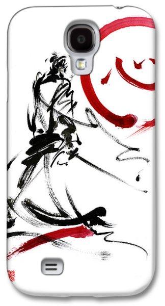 Samurai Enso Circle Wild Fury Bushi Bushido Martial Arts Sumi-e  Galaxy S4 Case by Mariusz Szmerdt