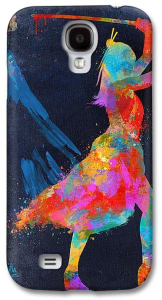 Fight Digital Art Galaxy S4 Cases - Samurai Girl Way of the Warrior Galaxy S4 Case by Nikki Marie Smith