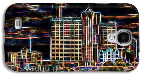 Photo Manipulation Galaxy S4 Cases - San Antonio Lights the Night Galaxy S4 Case by Wendy J St Christopher