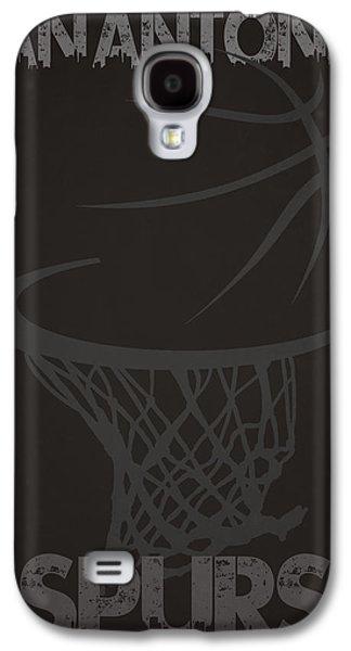 3 Pointer Galaxy S4 Cases - San Antonio Spurs Hoop Galaxy S4 Case by Joe Hamilton