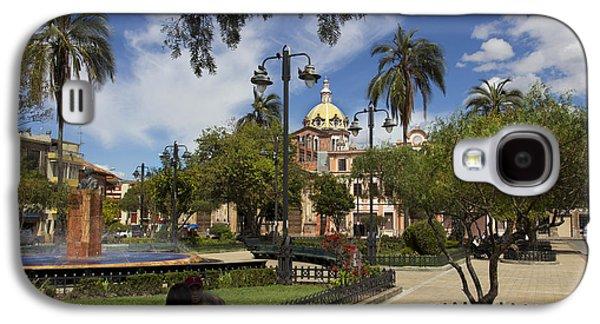 Colonial Man Photographs Galaxy S4 Cases - San Blas Park  Cuenca Ecuador Galaxy S4 Case by Al Bourassa