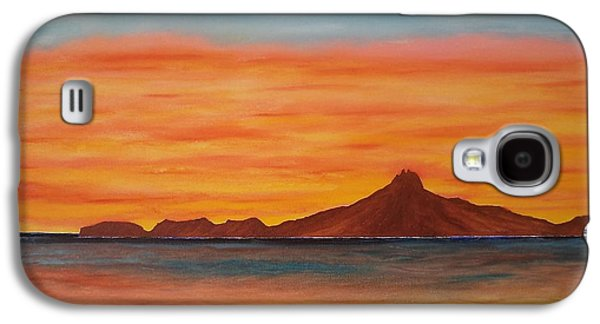 Sonora Paintings Galaxy S4 Cases - San Carlos bay Mexico Galaxy S4 Case by Jorge Cristopulos