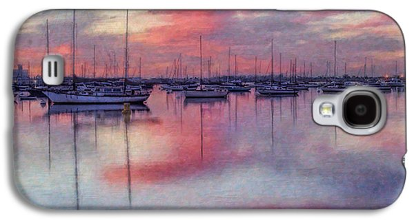Abstract Digital Art Galaxy S4 Cases - San Diego - Sailboats at Sunrise Galaxy S4 Case by Lianne Schneider