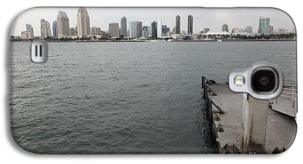 Gas Lamp Photographs Galaxy S4 Cases - San Diego Skyline 5D24348 Galaxy S4 Case by Wingsdomain Art and Photography