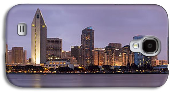 Landscapes Photographs Galaxy S4 Cases - San Diego Skyline at Dusk Panoramic Galaxy S4 Case by Adam Romanowicz