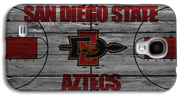 Dunk Galaxy S4 Cases - San Diego State Aztecs Galaxy S4 Case by Joe Hamilton