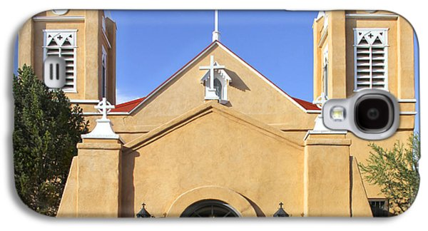 Old Town Digital Art Galaxy S4 Cases - San Felipe Church - Old Town Albuquerque   Galaxy S4 Case by Mike McGlothlen