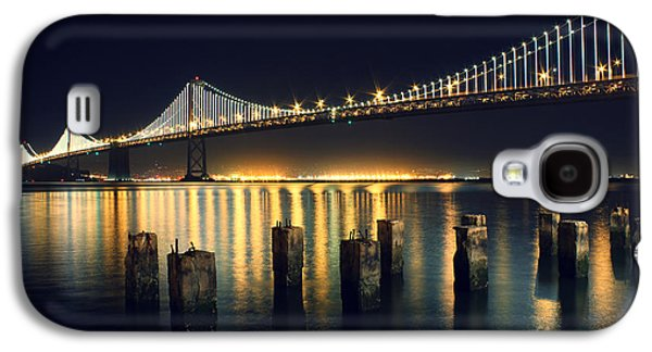 Bridge Galaxy S4 Cases - San Francisco Bay Bridge Illuminated Galaxy S4 Case by Jennifer Ramirez