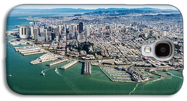Downtown San Francisco Galaxy S4 Cases - San Francisco Bay Piers Aloft Galaxy S4 Case by Steve Gadomski