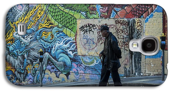 San Francisco Chinatown Street Art Galaxy S4 Case by Juli Scalzi