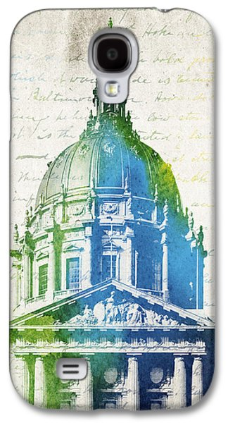 Government Mixed Media Galaxy S4 Cases - San Francisco City Hall Galaxy S4 Case by Aged Pixel