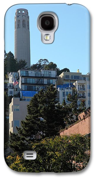 Levi Galaxy S4 Cases - San Francisco Coit Tower At Levis Plaza 5D26192 Galaxy S4 Case by Wingsdomain Art and Photography