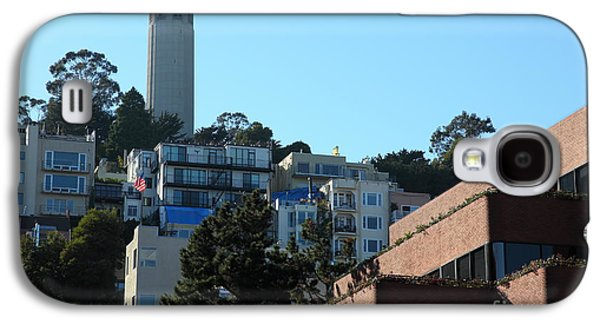 Levi Galaxy S4 Cases - San Francisco Coit Tower At Levis Plaza 5D26193 Galaxy S4 Case by Wingsdomain Art and Photography