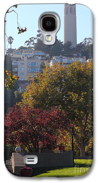 Levi Galaxy S4 Cases - San Francisco Coit Tower At Levis Plaza 5D26216 Galaxy S4 Case by Wingsdomain Art and Photography