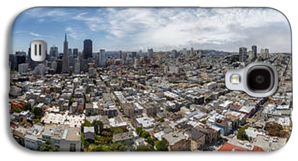 Alcatraz Photographs Galaxy S4 Cases - San Francisco Daytime Panoramic Galaxy S4 Case by Adam Romanowicz