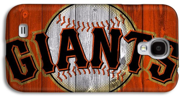 Barn Doors Galaxy S4 Cases - San Francisco Giants Barn Door Galaxy S4 Case by Dan Sproul