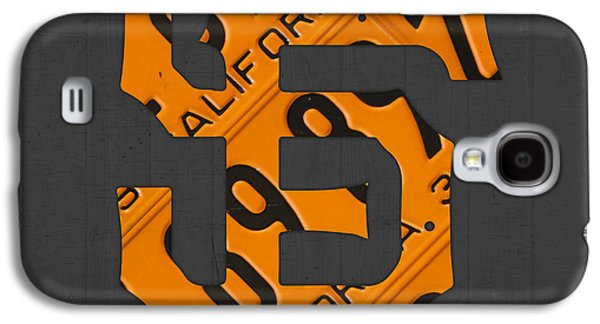 San Francisco Giants Baseball Vintage Logo License Plate Art Galaxy S4 Case by Design Turnpike