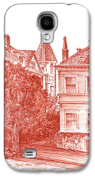 Street Drawings Galaxy S4 Cases - San Francisco Jackson Street Galaxy S4 Case by Irina Sztukowski