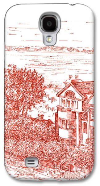 Street Drawings Galaxy S4 Cases - San Francisco Leavenworth Street Bay View Galaxy S4 Case by Irina Sztukowski