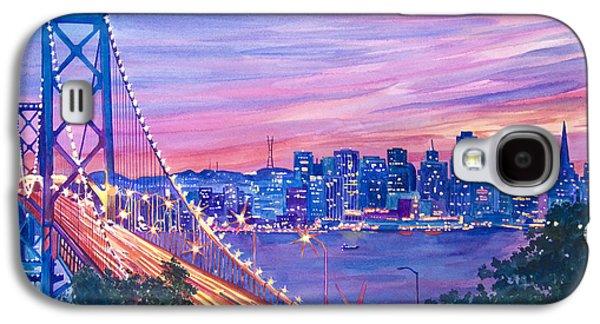 City Lights Galaxy S4 Cases - San Francisco Nights Galaxy S4 Case by David Lloyd Glover