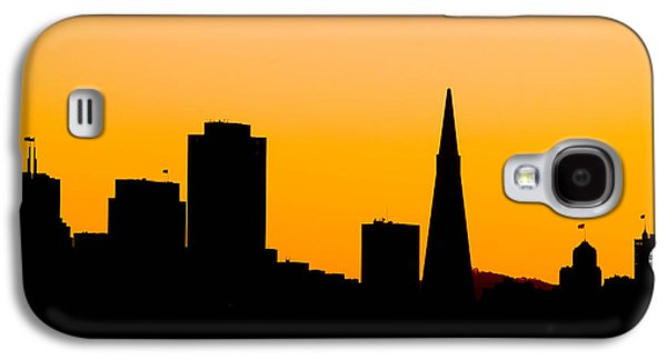 Downtown San Francisco Galaxy S4 Cases - San Francisco Silhouette Galaxy S4 Case by Bill Gallagher