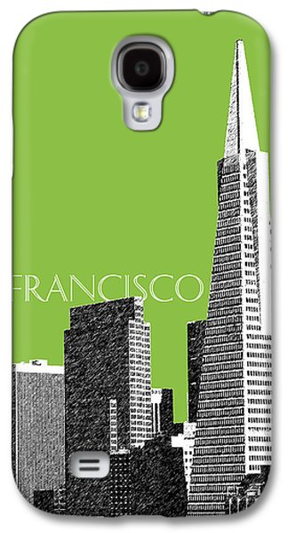 Pencil Digital Galaxy S4 Cases - San Francisco Skyline Transamerica Pyramid Building - Olive Galaxy S4 Case by DB Artist