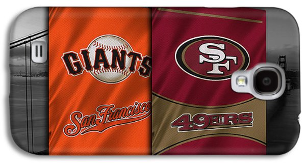 Baseball Uniform Galaxy S4 Cases - San Francisco Sports Teams Galaxy S4 Case by Joe Hamilton