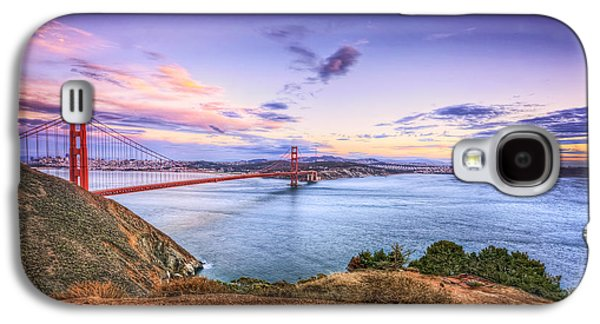 Sausalito Photographs Galaxy S4 Cases - San Francisco Sunset and the Golden Gate Bridge from Marin Headlands 2 Galaxy S4 Case by The  Vault - Jennifer Rondinelli Reilly