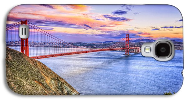 Sausalito Galaxy S4 Cases - San Francisco Sunset and the Golden Gate Bridge from Marin Headlands Galaxy S4 Case by The  Vault - Jennifer Rondinelli Reilly
