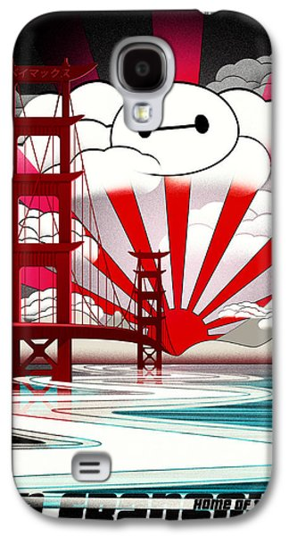 Animation Galaxy S4 Cases - San Fransokyo home of the Baymax Galaxy S4 Case by Filippo B