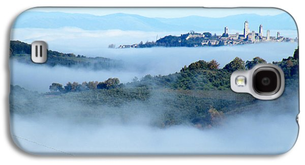 Light Ceramics Galaxy S4 Cases - San Gimignano in the Clouds Galaxy S4 Case by Dan Krapf