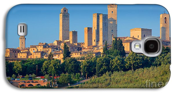 Tuscan Hills Galaxy S4 Cases - San Gimignano Skyline Galaxy S4 Case by Inge Johnsson