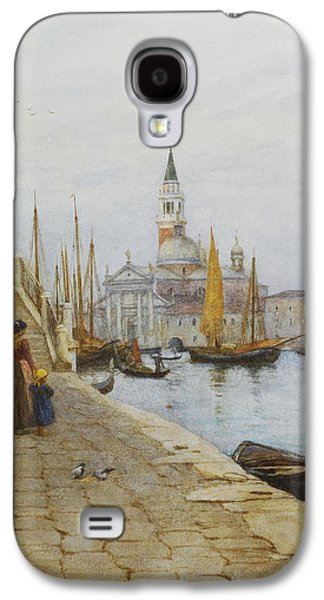 Family Walks Galaxy S4 Cases - San Giorgio Maggiore from the Zattere Galaxy S4 Case by Helen Allingham